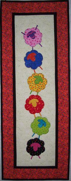 Sheep Tricks Table Runner/Wall Hanging Quilt Pattern. $8.50, via Etsy.