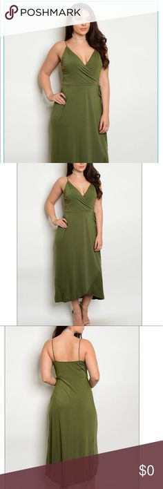 """Plus Size Olive Dress COMING SOON‼️‼️‼️ WILL BE LISTING THIS BEAUTIFUL OLIVE GREEN DRESS SOON! PLEASE SHOW YOUR INTEREST BELOW FOR MORE DETAILS! MEASUREMENTS: L: 52"""" B: 38"""" W: 36"""" Dresses Maxi"""