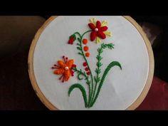 Hand Embroidery: Bullion Lazy - YouTube