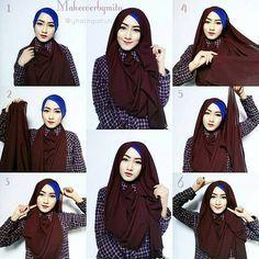 Tutorial Hijab Segi Empat Untuk Jalan2 Blog Lif Co Id