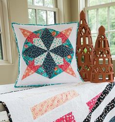 Gypsy Lane Pillow Kit via Craft of Quilting