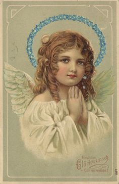 Angel with blue halo