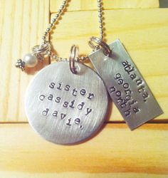 lds sister missionary necklace customized by threechickscouture, $25.00
