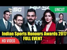 UNCUT - Indian Sports Awards 2017 | Full Event | Virat Kohli Anushka Sania Mirza Aamir Khan