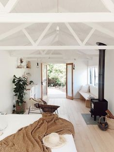 Unique Home Decor Olive Shed - Guesthouses for Rent in Red Hill.Unique Home Decor Olive Shed - Guesthouses for Rent in Red Hill Guest House Shed, Shed Cabin, Tiny House Shed, Guest House Cottage, Guest Cabin, Home Renovation, Shed Interior, House Ideas, Shed Homes