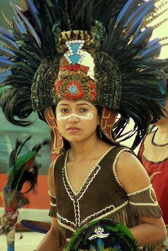 Aztec dancer in a Mayan region.