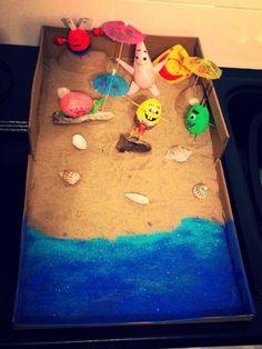 Spongebob eggpants egg decorating competition