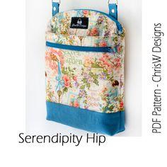 Diseño Hipster Cruz Body Bag patrón PDF para por ChrisWDesigns