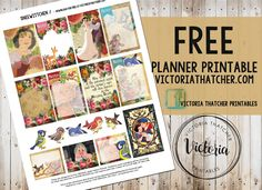 Free Printable Snow White Planner Stickers from Victoria Thatcher