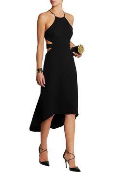 Shop on-sale Halston Heritage Halterneck cutout crepe dress. Browse other discount designer Dresses & more on The Most Fashionable Fashion Outlet, THE OUTNET.COM