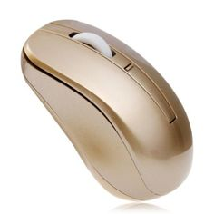 Gold  wireless mouse.