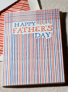 Smock Father's day striped card.