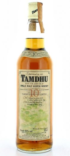 10 yo Tamdhu single malt whisky bottled in early 80's for italian market.