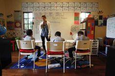 Homeschool room | For home-school parents, classroom design is the subject du jour ...put desk in middle