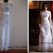 crochet wedding dress - via @Craftsy  would love to make this but have no one to make it for!  :-)