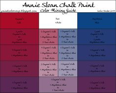 COLORWAYS Annie Sloan Chalk Paint mixing for purple with Emperor's Silk…