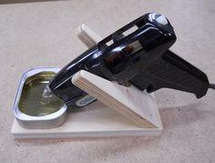 Storage for a glue gun