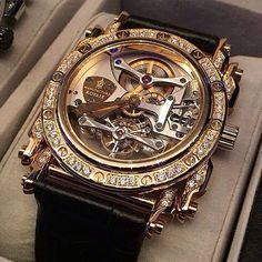 Manufacture Royale Androgyne tourbillon gold case and 52 diamonds ( 1.77cts ). Your next crush ??