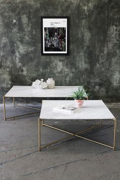 Carrara Marble Coffee Table - White Marble - Coffee & Side Tables - Furniture