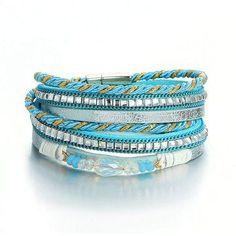 Bohemian Multilayer Bracelets Crystal Beads Braided Rope Chain Bracelet Ethnic Jewelry for Women Bracelets Wrap En Cuir, Leather Charm Bracelets, Layered Bracelets, Bracelets For Men, Fashion Bracelets, Beaded Bracelets, Rope Bracelets, Link Bracelets, Hematite Bracelet