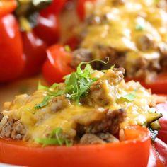 Best Turkey Taco Stuffed Peppers