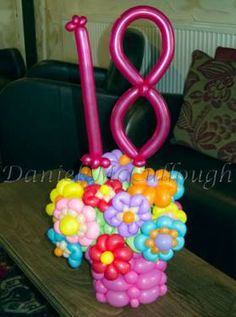 Birthday flower cupcake