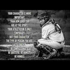 A lot of young athletes need to learn this!