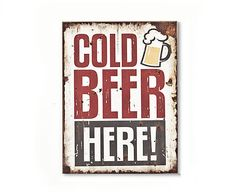 Wandschild Cold Beer, 30 x 40 cm