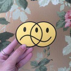 Bruised Tongue Happy Sad Pin Ottawa