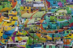 Mexico's largest mural brightens up town – in pictures