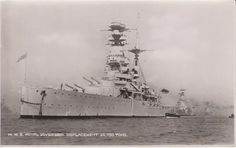 Postcard of the battleship HMS Royal Sovereign From the WW II collection of C.E.R.A Albert Sayer, R.C.N.V.R. Courtesy of Karen Pelton