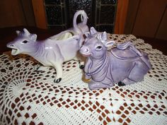 Vintage Purple Cow sugar and creamer set by Nothyme4presents, $20.00