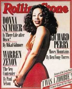 Donna Summer on the cover of Rolling Stone