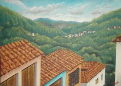 San Gil, Santander. Oleo sobre lienzo 35 cm * 25 cm Jun-2013 San Gil, Mountains, Nature, Travel, Oil On Canvas, Canvases, Pintura, Naturaleza, Viajes
