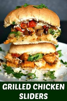 Grilled Chicken Sliders, my new favourite appetizer ever. With delicious garlicky grilled chicken and a winning combination of vegetables, plus a good amount of cheese heaven, you know there is nothing better you could have.  Game day, family gathering, picnic or just a nice meal? Look nofurther, this is the recipe you've been looking for. Have I mentioned the word healthy yet? Game day, family gathering, picnic or just a nice meal? Look nofurther, this is the recipe you've been looksing…