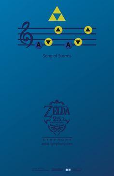 """Melodía de la """"Ocarina del tiempo"""" de la leyenda de Zelda."""