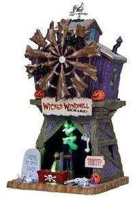 15203 - Wicked Windmill, with 4.5v Adaptor - Lemax Spooky Town Halloween Village Houses & Buildings