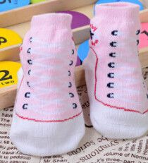 baby shoes 1 pair Infant Newborn Socks Winter 100% Cotton Sock Baby Non-slip Socks Baby Clothing Accessories