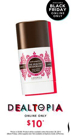 Black Friday Preview: Lavanila The Healthy Deodorant Vanilla Grapefruit mini #Dealtopia #Sephora #blackfriday