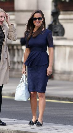 Pippa Middleton heading to work with a friend