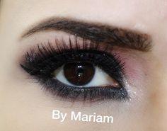 Smokey eye with black and brick