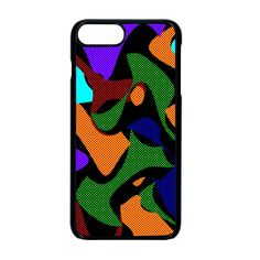 Trippy paint splash, asymmetric dotted camo in saturated colors iPhone 8 Plus Seamless Case (Black) Apple Mobile, Paint Splash, Saturated Color, Trippy, Iphone 8 Plus, Creative Design, Camo, Iphone Cases, Crystals