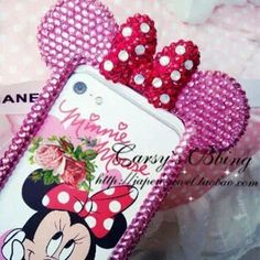 PIINK rose hot handmade Minnie mouse Disney by artemisonearth, $64.99