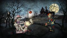 Halloween Landscape by Iva Ivanova, via Behance