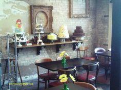 Cake shop cafe interior