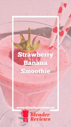 Enjoy a classic strawberry-banana smoothie. The easy recipe uses your blender and four simple ingredients to whip up a great healthy treat. Smoothie Shop, Smoothie King, Smoothie Blender, Fruit Smoothie Recipes, Healthy Smoothies, Jelly Recipes, Healthy Blender Recipes, Vitamix Recipes, Canning Recipes