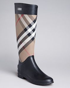 Burberry Rain Boots - Clemence Check   Bloomingdale's