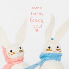 Some bunny loves you! Hop over to our website for some Valentine's Day cuties!!
