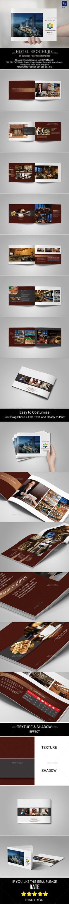 Hotel Brochure — Photoshop PSD #hotel brochure #a4 • Available here → https://graphicriver.net/item/hotel-brochure/11086088?ref=pxcr