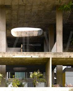 The Shodan House. Ahmedabad, India. 1956. Le Corbusier.
